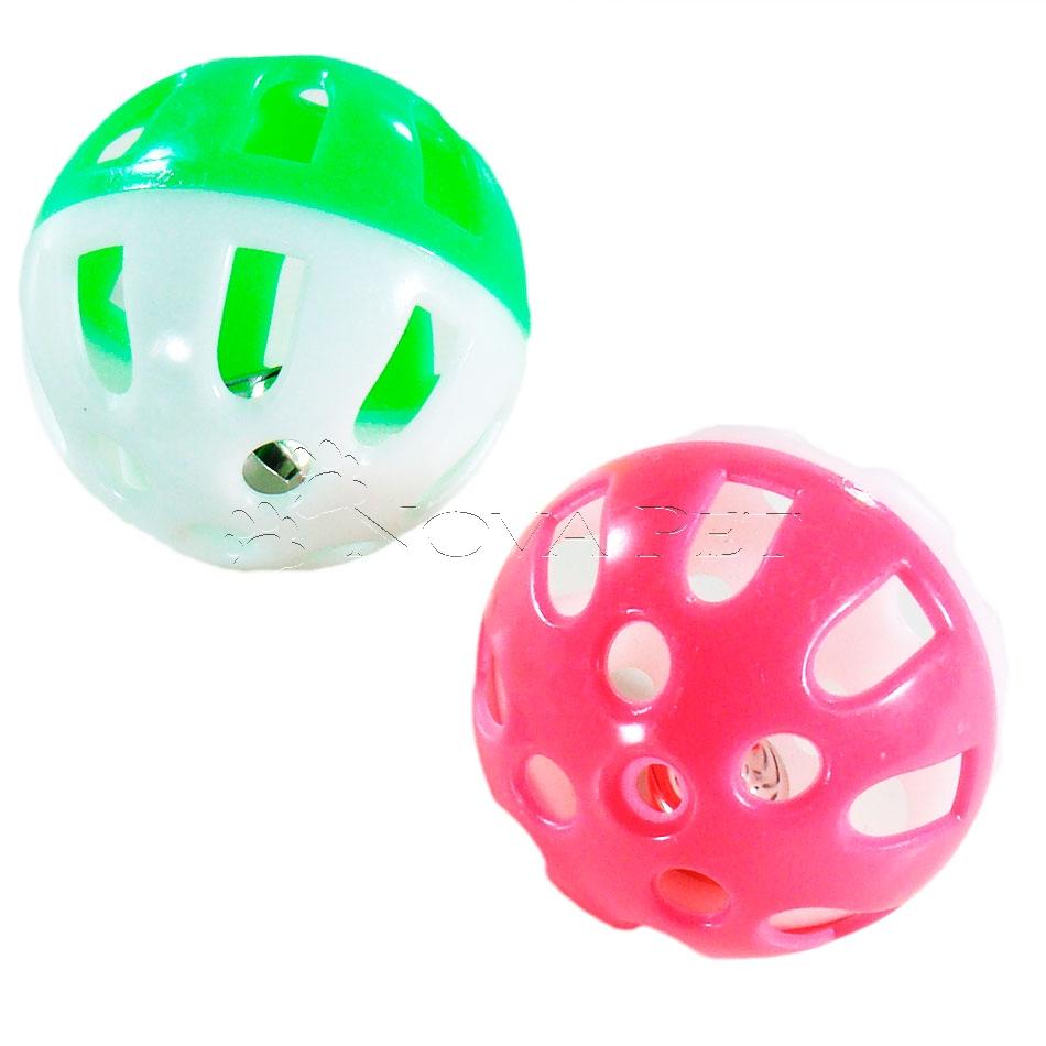 Bola Plástica - Com Guizo - American Pet s - Distribuidora Nova Pet e680faf14a3e7